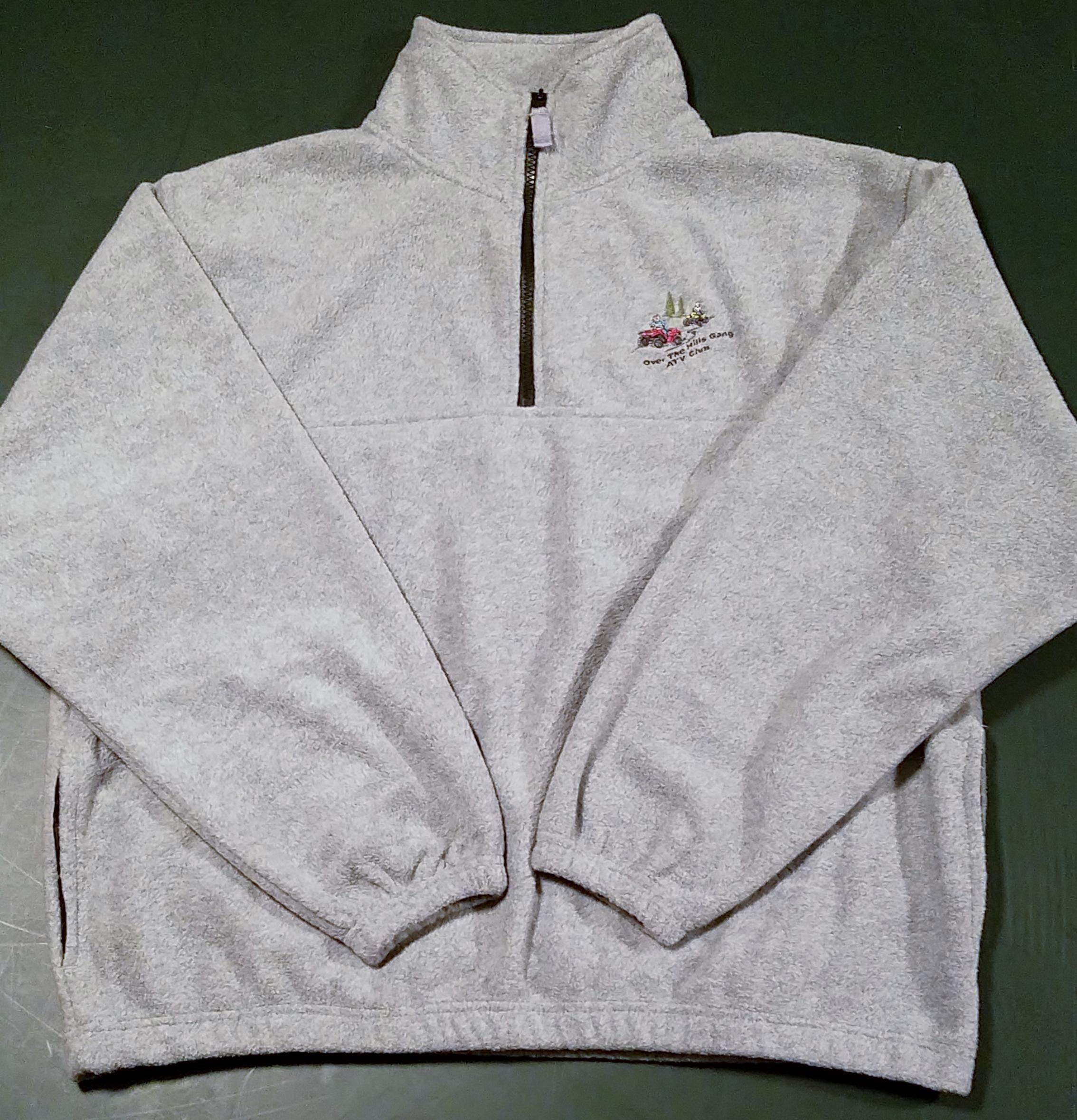1-4 zip fleece sweatshirt gray