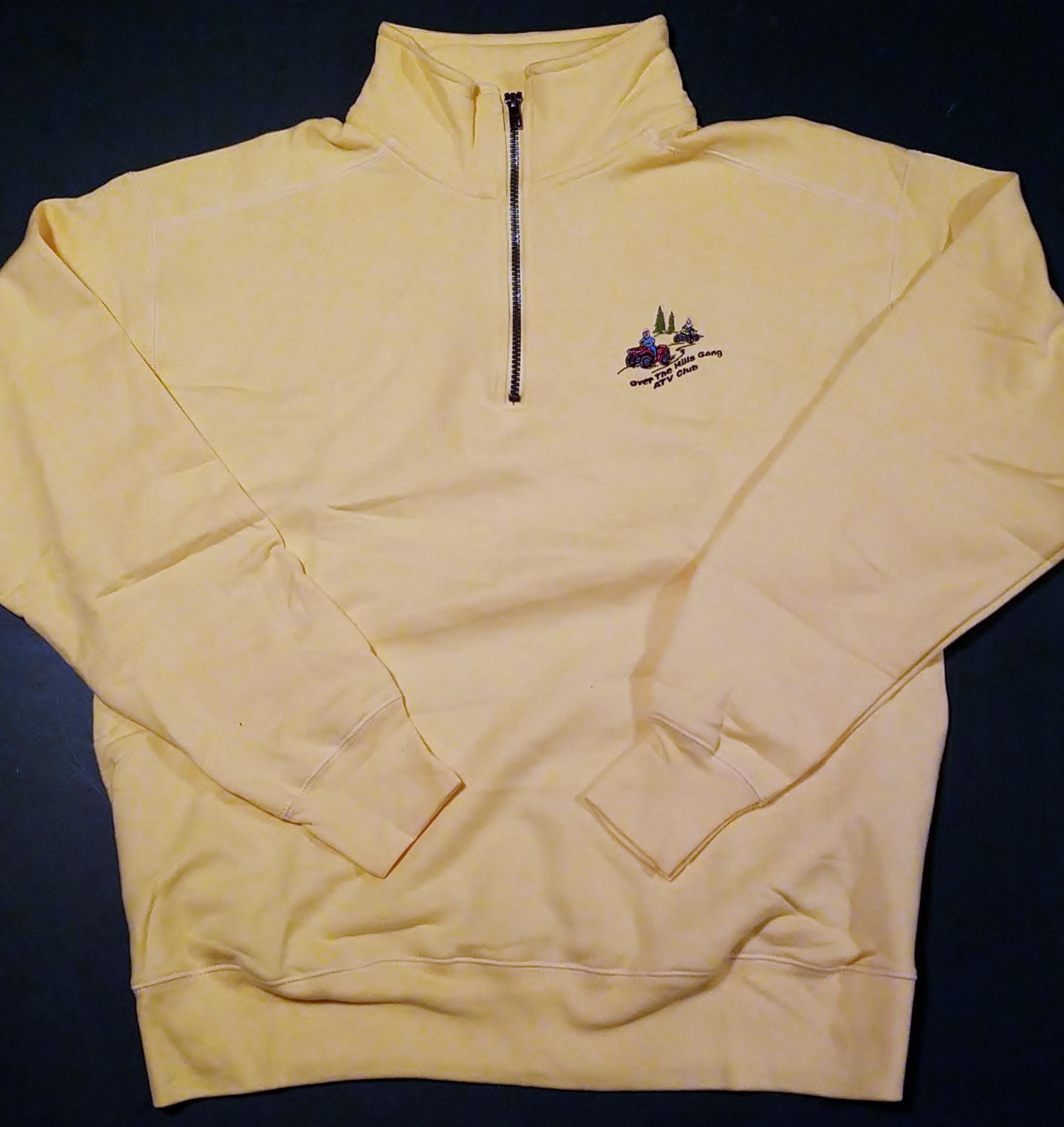 1-4 zip sweatshirt yellow