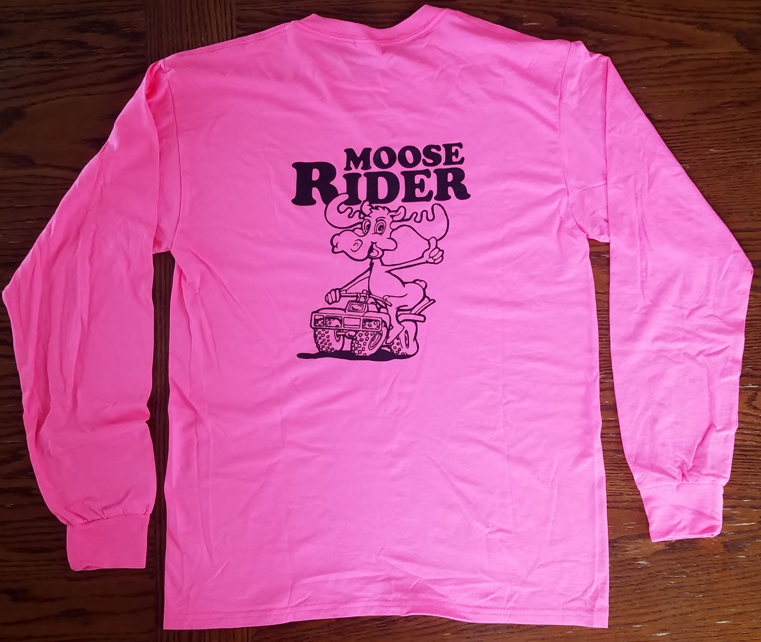 Happy Moose Long Sleeve T-Shirt - Pink