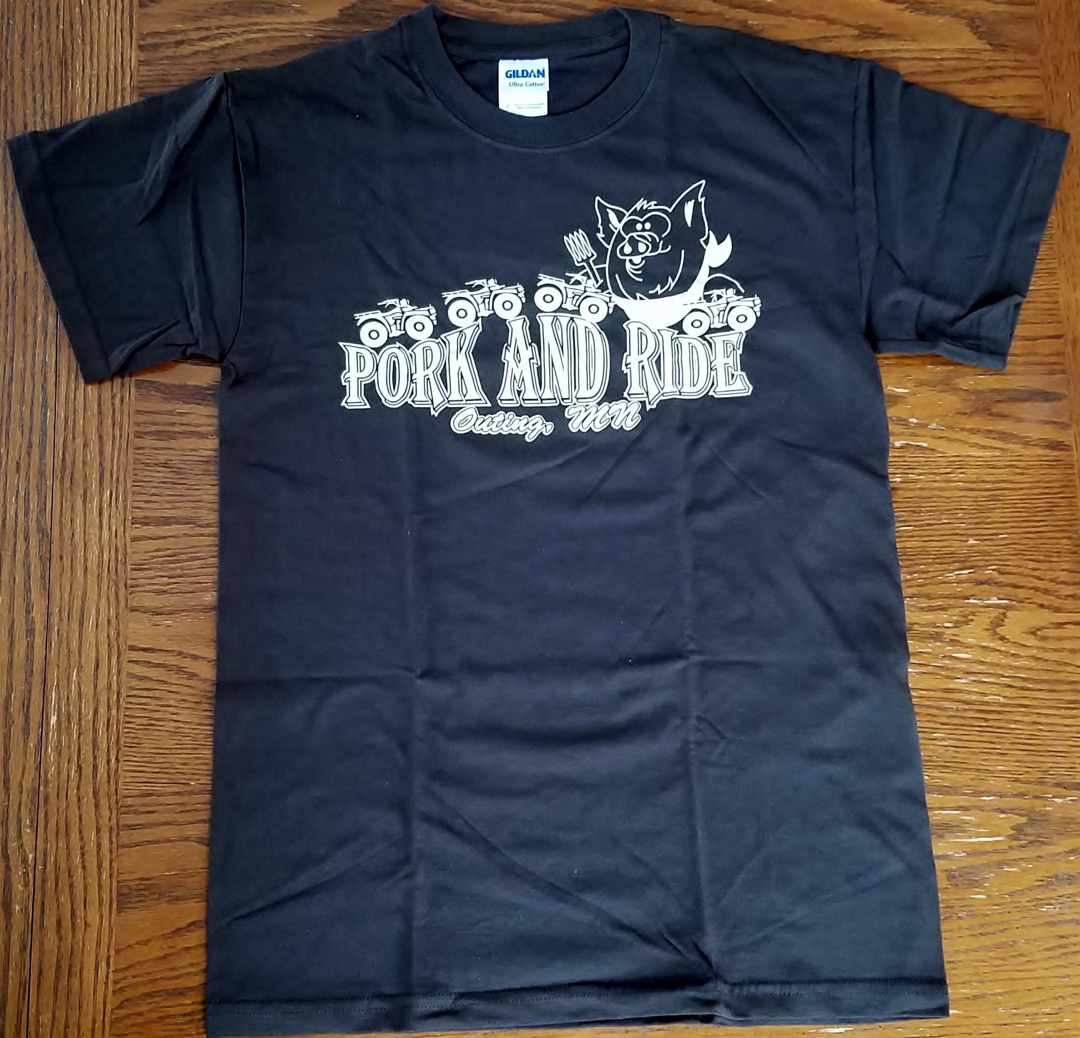 Pork-N-Ride Short Sleeve T-Shirts - Brown