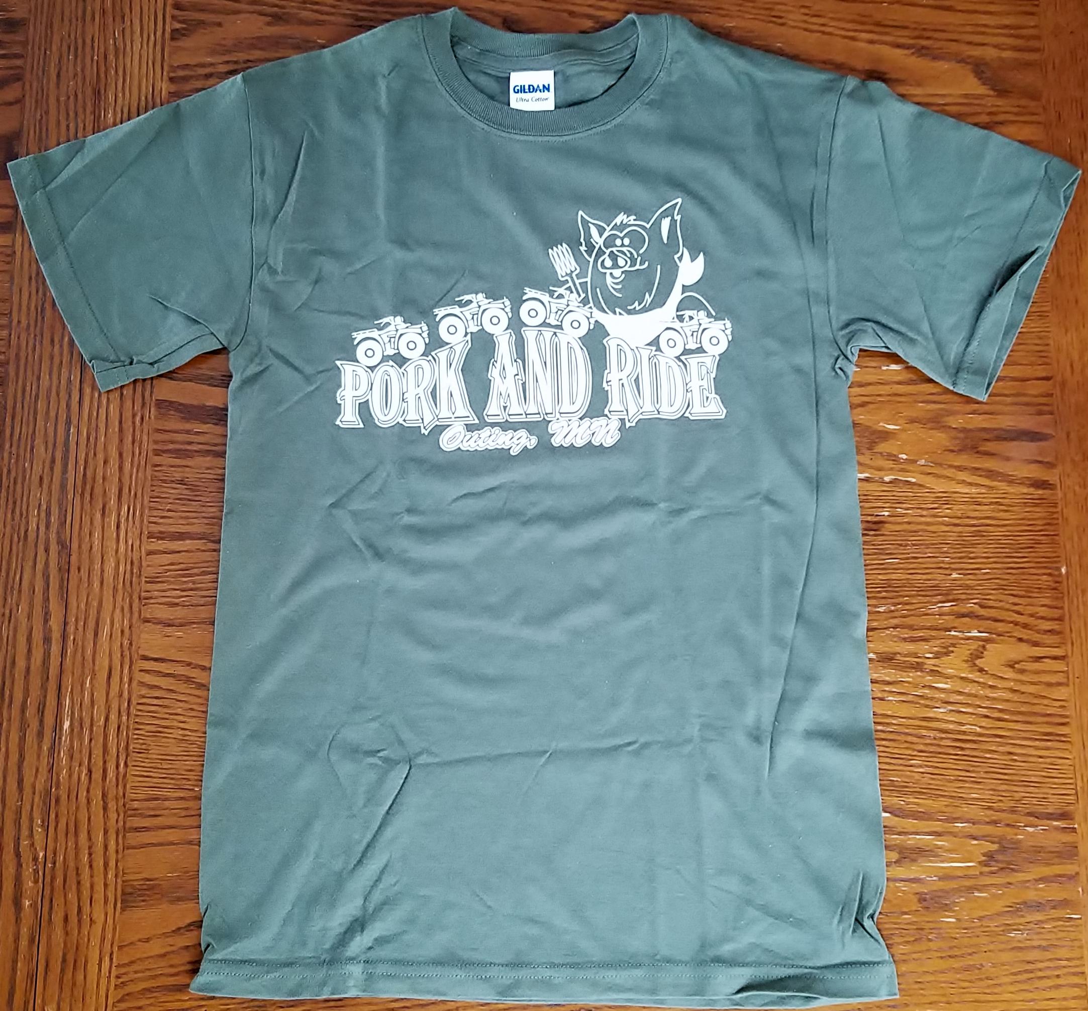 Pork-N-Ride Short Sleeve T-Shirts - Sage