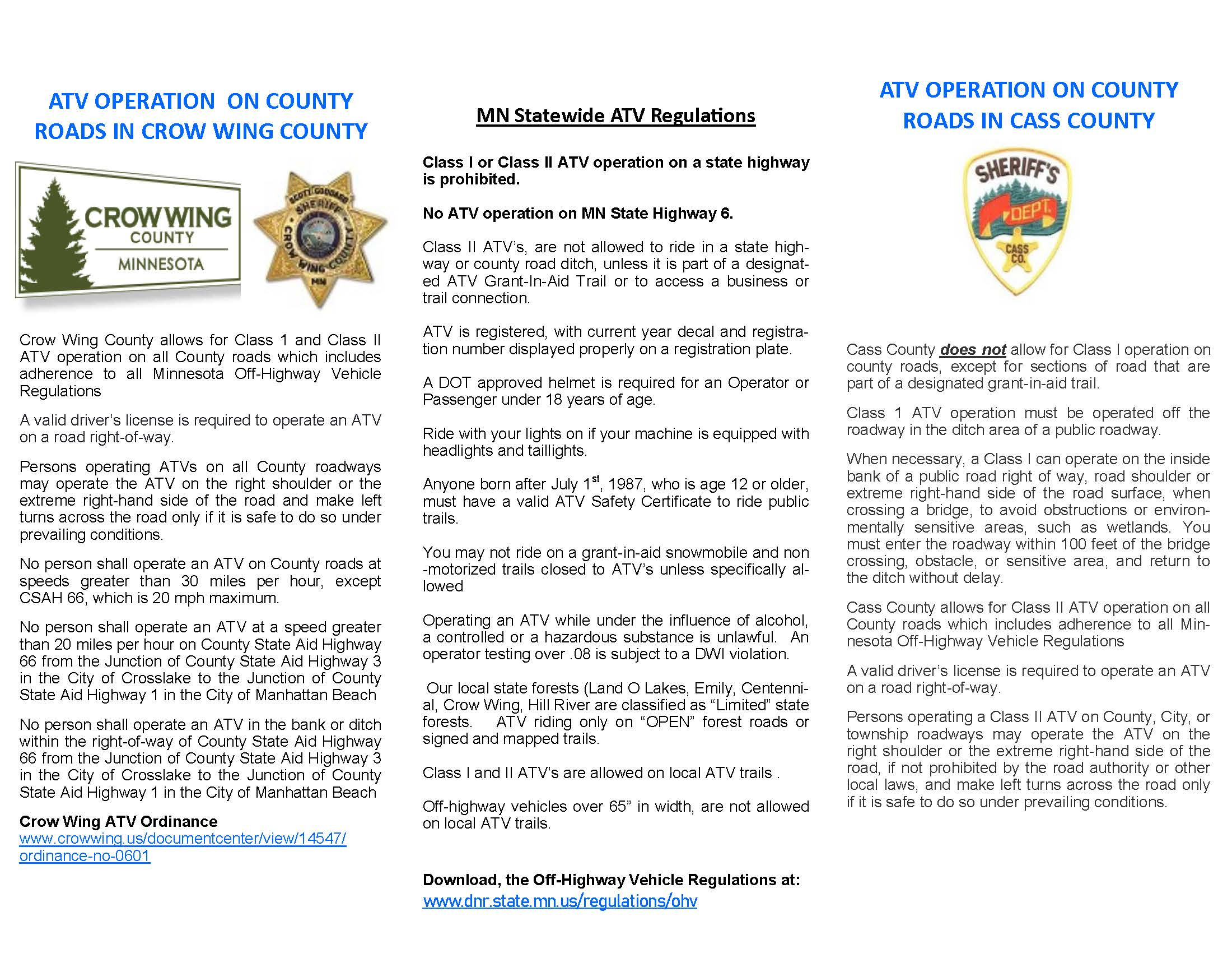 ATV Safety tips page 2