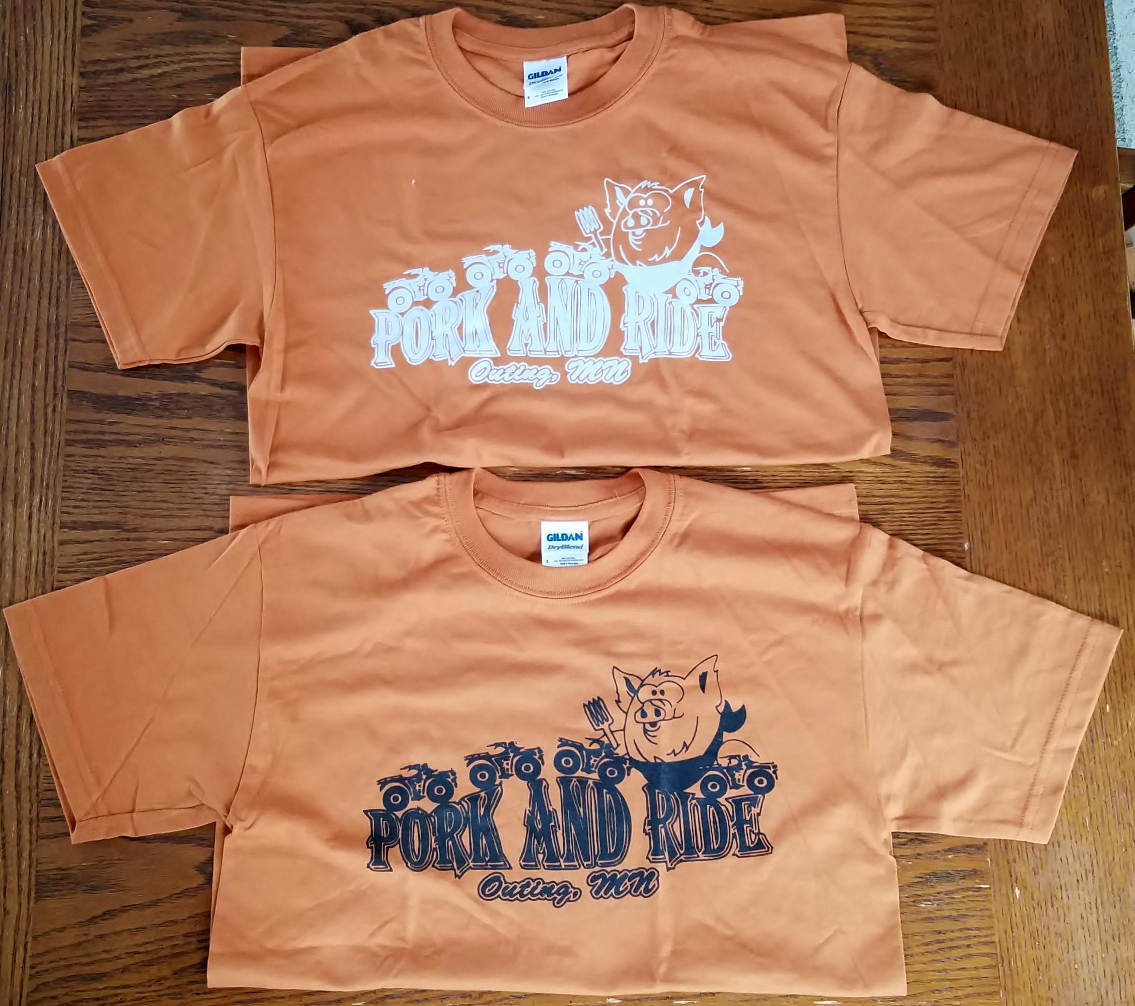 Pork-N-Ride Short Sleeve T-Shirts - Burnt Orange